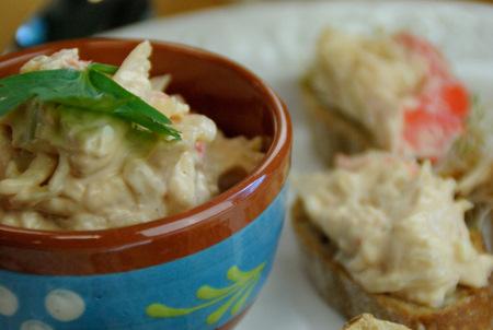 Salade met krab